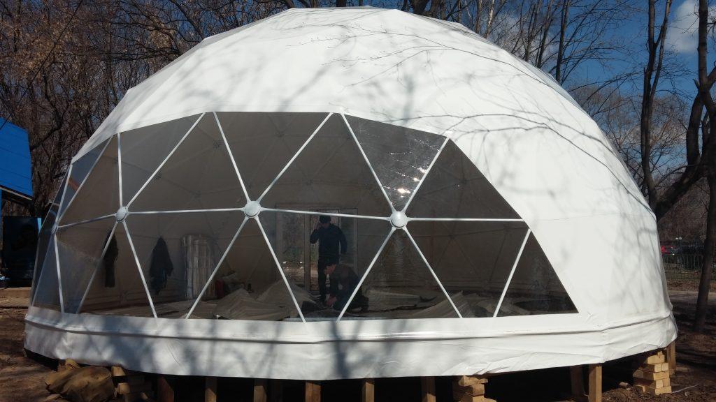 Геодезический сотовый купол своими руками 50